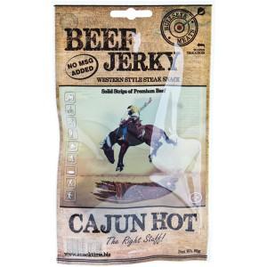 Bullseye Meats Beef Jerky Cajun Hot, 50g