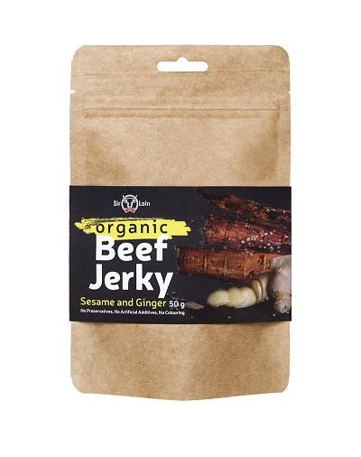 SirLoin Organic Beef Jerky Sesame and Ginger, 50g